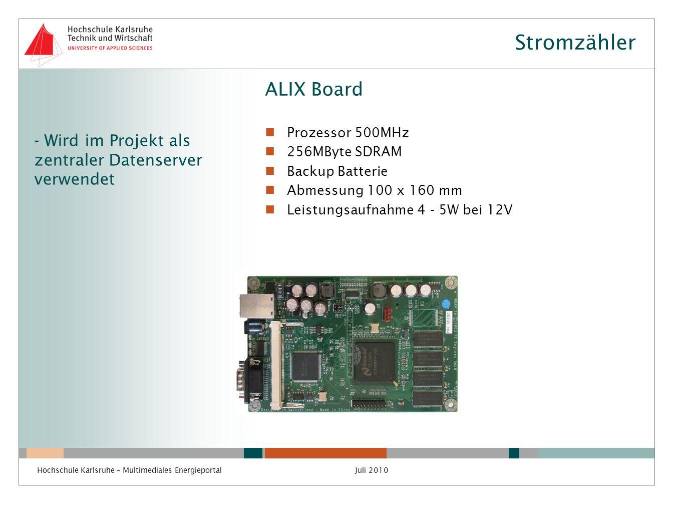 Stromzähler ALIX Board
