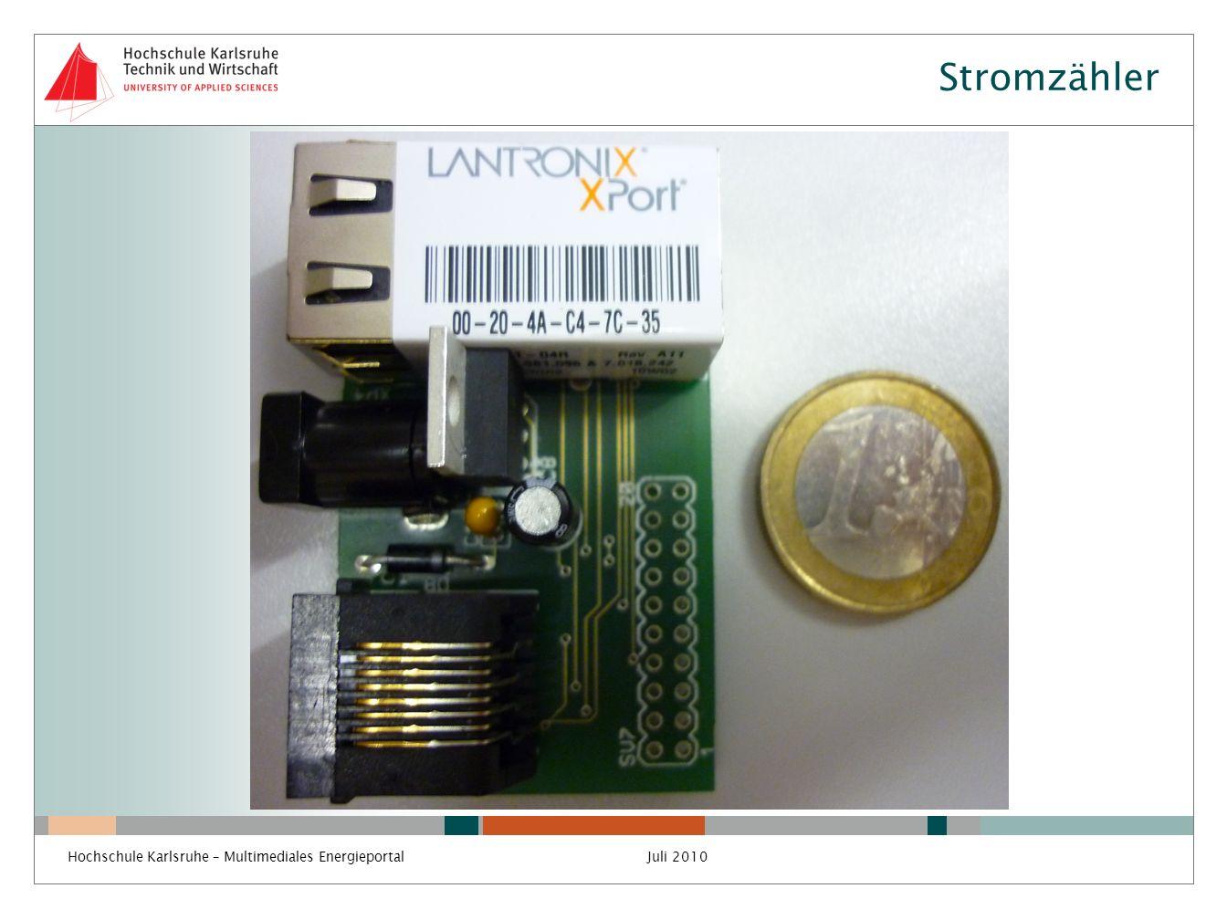 Stromzähler Hochschule Karlsruhe – Multimediales Energieportal
