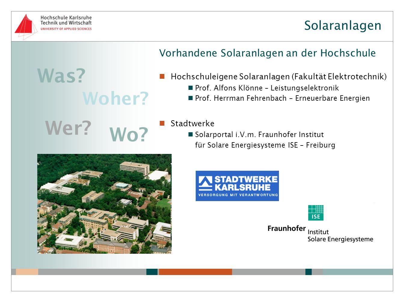 Was Wer Wo Woher Solaranlagen