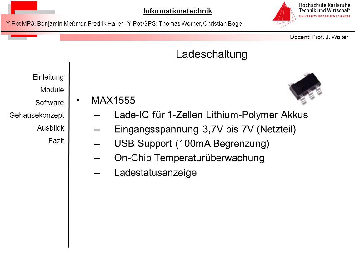 Ladeschaltung MAX1555 Lade-IC für 1-Zellen Lithium-Polymer Akkus