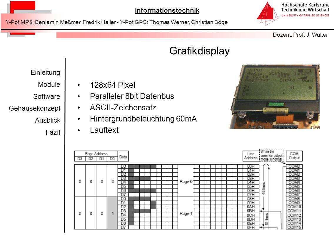 Grafikdisplay 128x64 Pixel Paralleler 8bit Datenbus ASCII-Zeichensatz