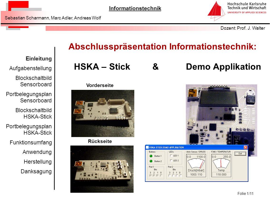 Abschlusspräsentation Informationstechnik: