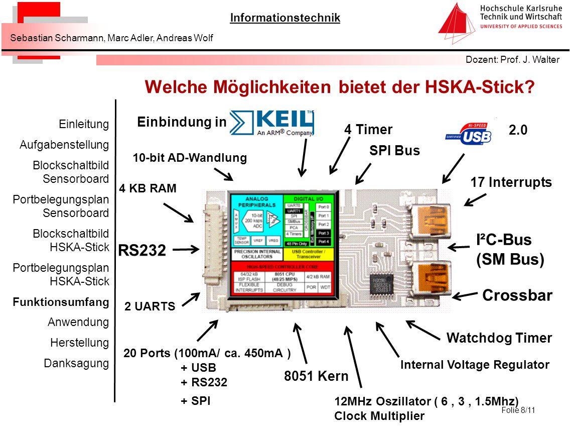 Welche Möglichkeiten bietet der HSKA-Stick