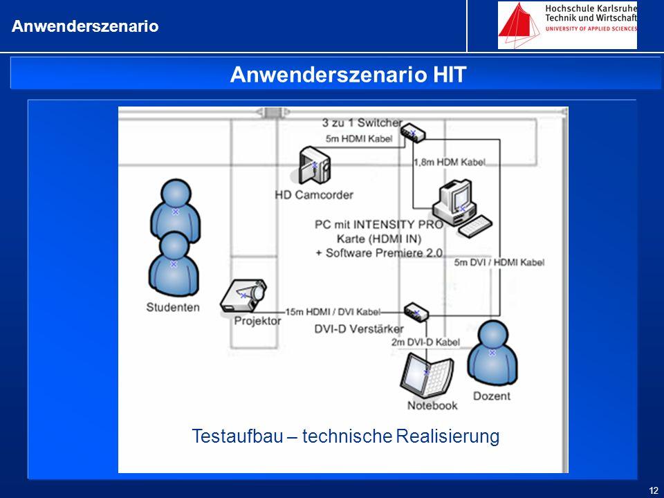 Testaufbau – technische Realisierung