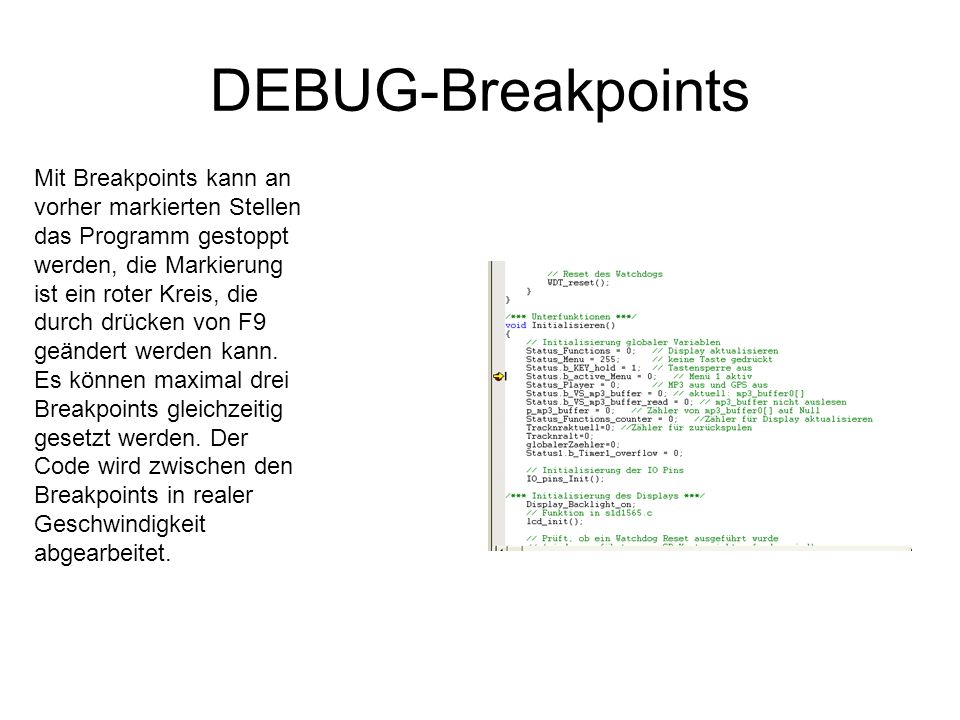 DEBUG-Breakpoints