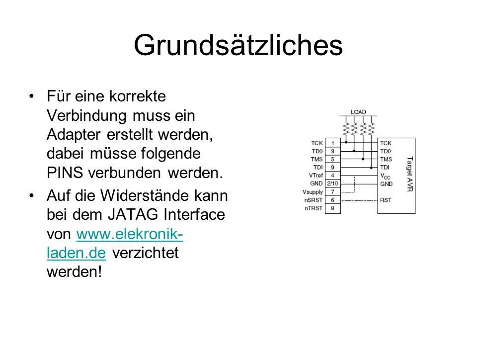 GrundsätzlichesFür eine korrekte Verbindung muss ein Adapter erstellt werden, dabei müsse folgende PINS verbunden werden.