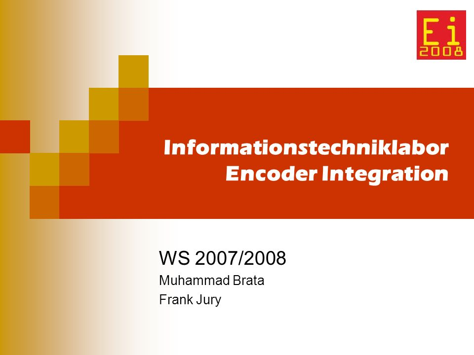 Informationstechniklabor Encoder Integration