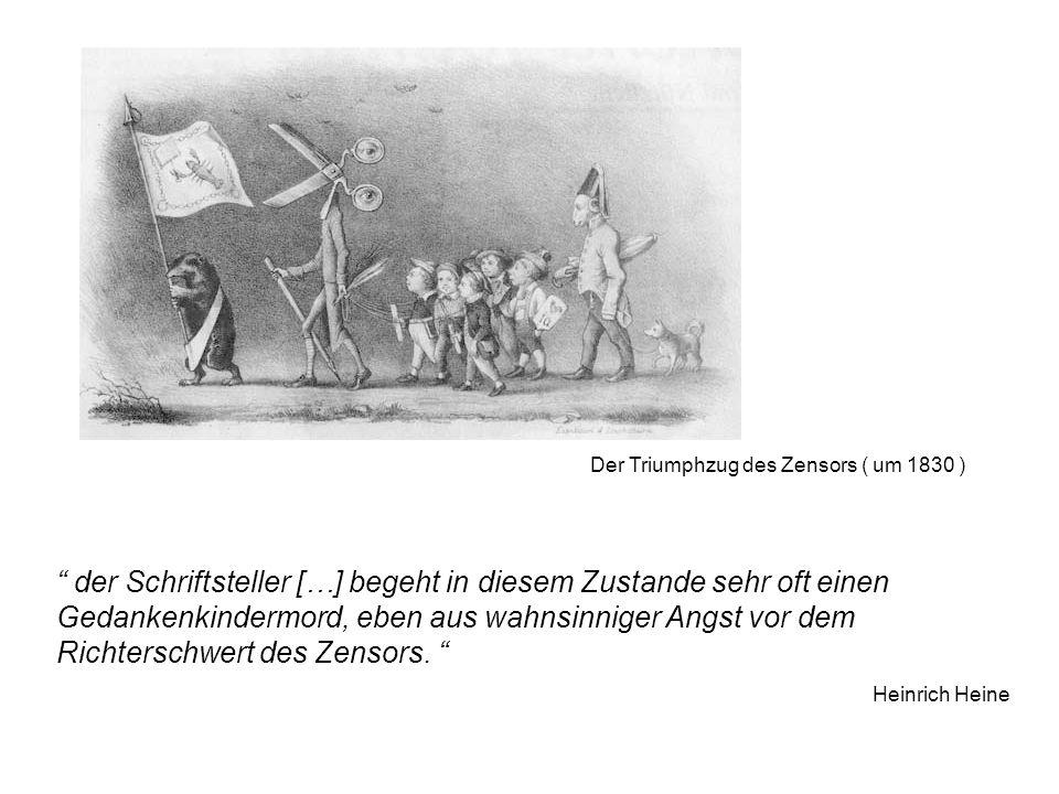 Der Triumphzug des Zensors ( um 1830 )