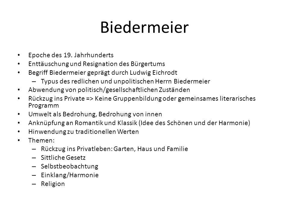 Biedermeier Epoche des 19. Jahrhunderts