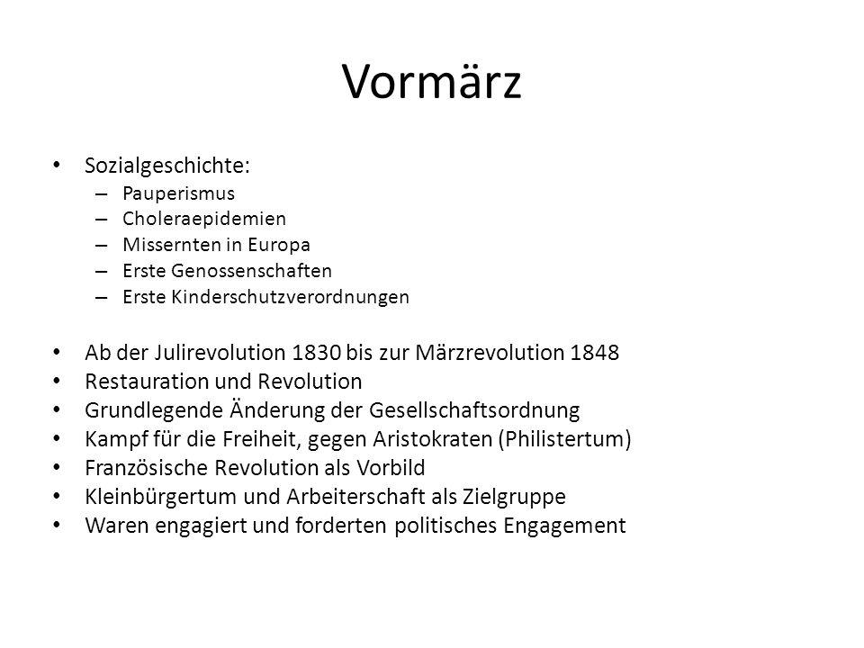 Vormärz Sozialgeschichte: