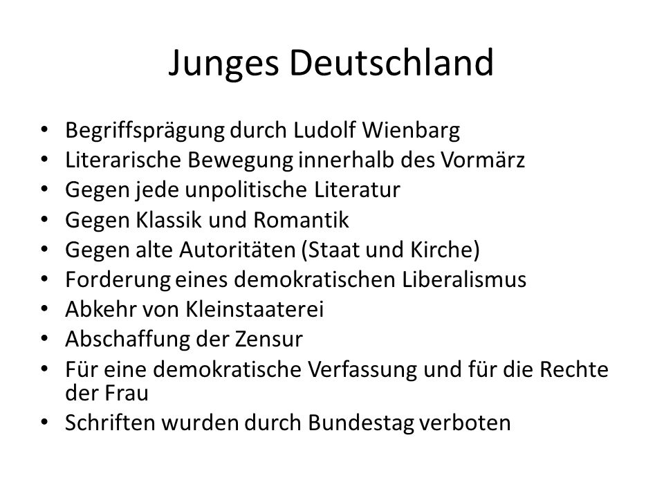 Junges Deutschland Begriffsprägung durch Ludolf Wienbarg