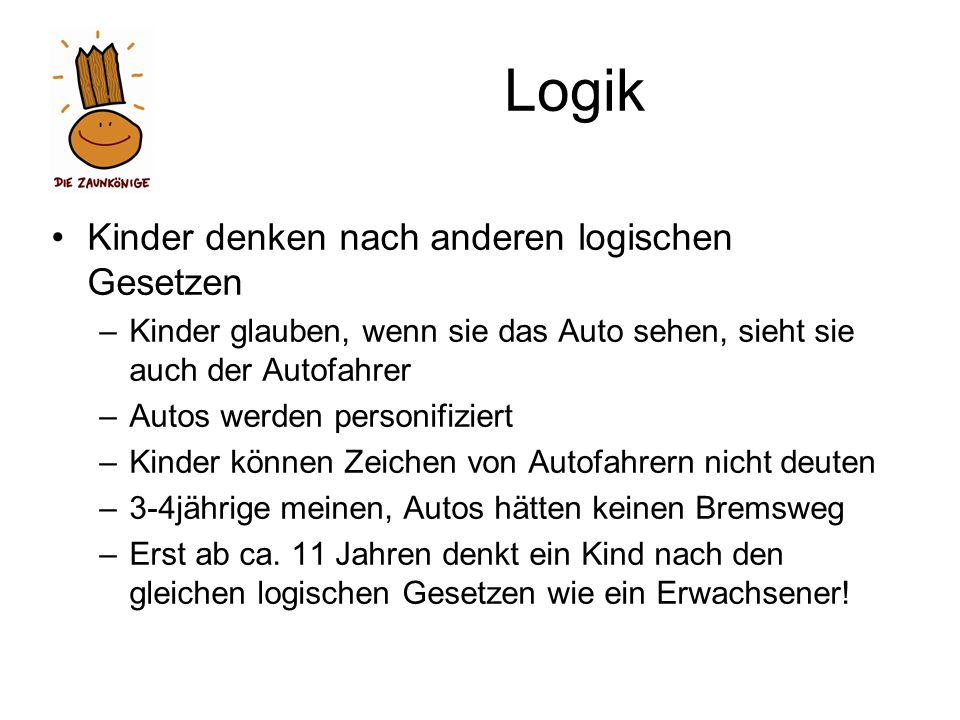 Logik Kinder denken nach anderen logischen Gesetzen