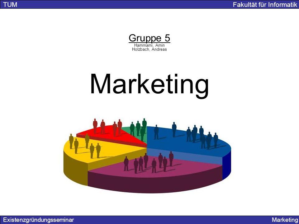 Marketing Gruppe 5 TUM Fakultät für Informatik