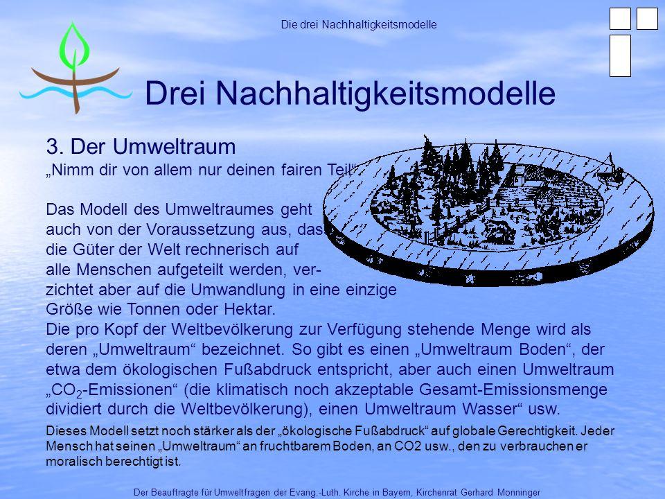 Drei Nachhaltigkeitsmodelle