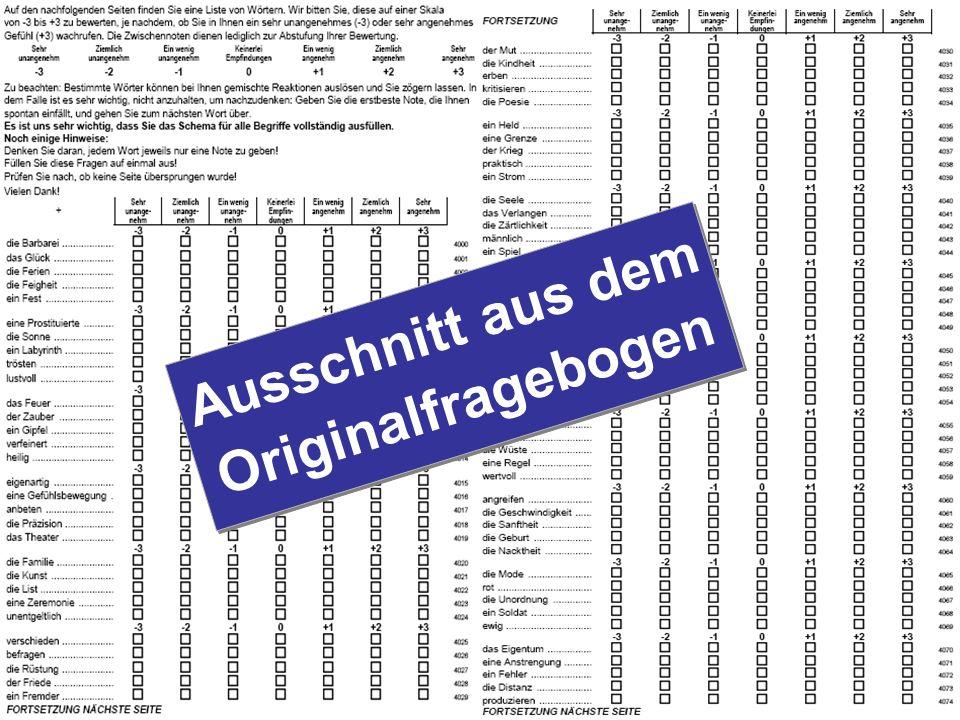 Ausschnitt aus dem Originalfragebogen
