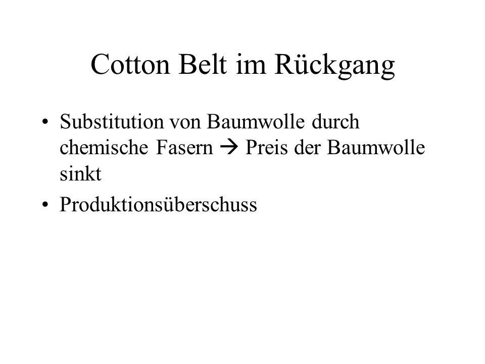 Cotton Belt im Rückgang