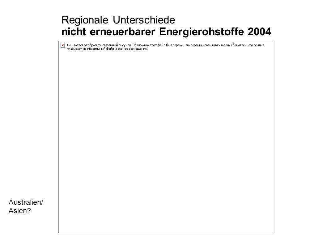 Regionale Unterschiede nicht erneuerbarer Energierohstoffe 2004