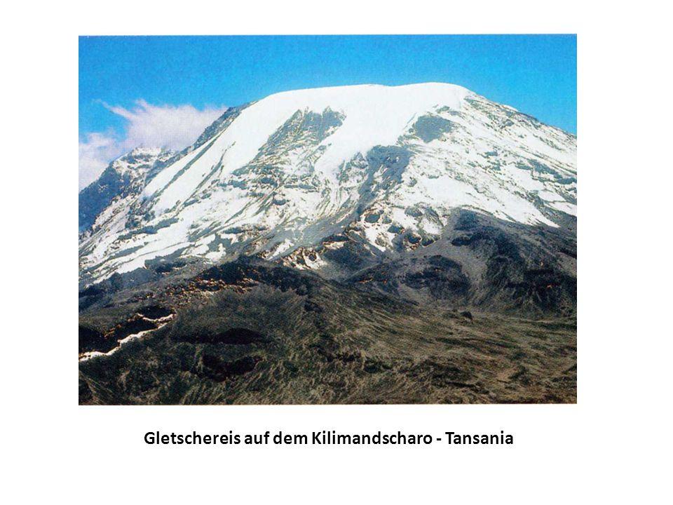 Gletschereis auf dem Kilimandscharo - Tansania
