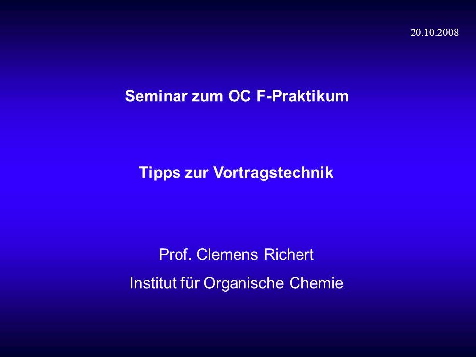 Seminar zum OC F-Praktikum