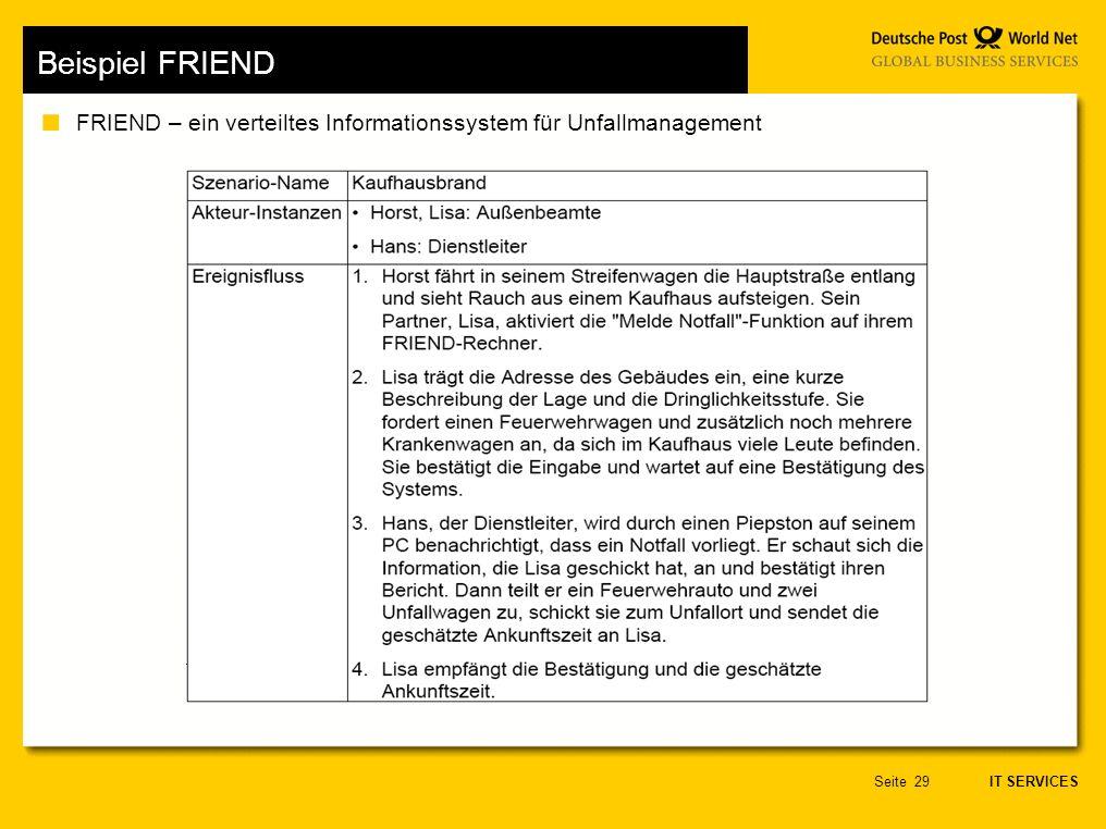 Beispiel FRIEND FRIEND – ein verteiltes Informationssystem für Unfallmanagement