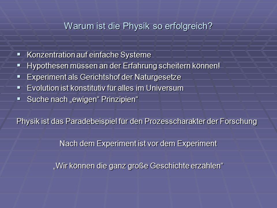 Warum ist die Physik so erfolgreich