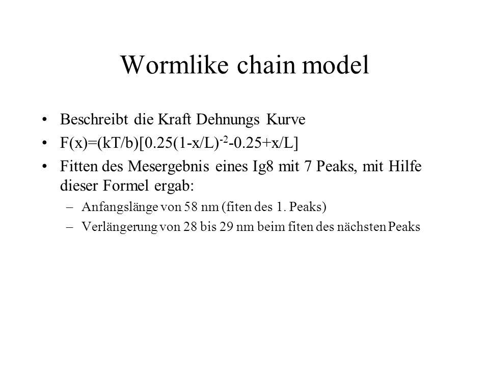 Wormlike chain model Beschreibt die Kraft Dehnungs Kurve