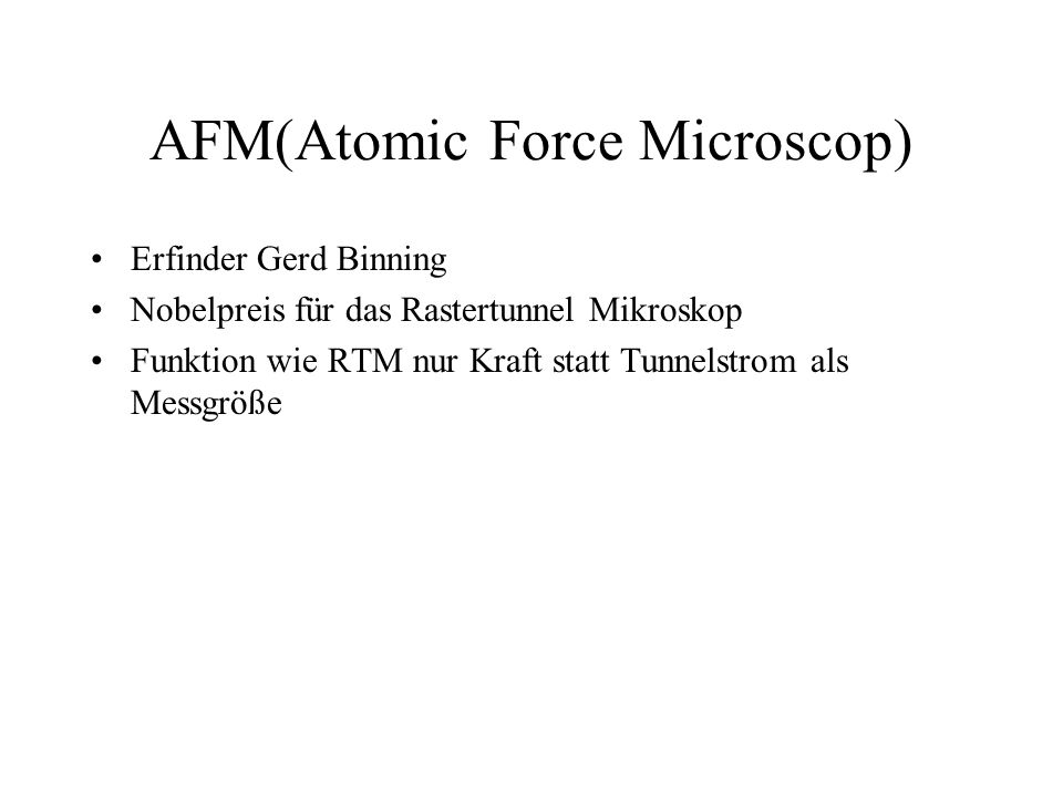 AFM(Atomic Force Microscop)