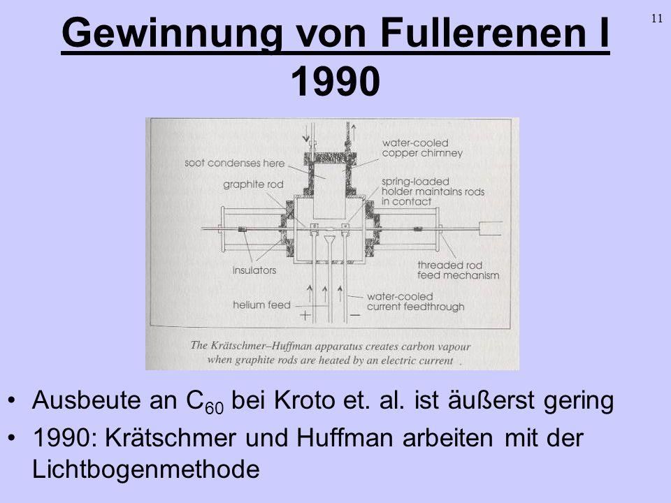 Gewinnung von Fullerenen I 1990