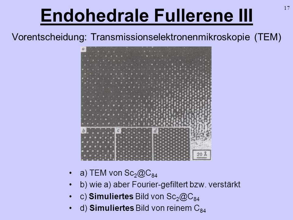 Endohedrale Fullerene III Vorentscheidung: Transmissionselektronenmikroskopie (TEM)