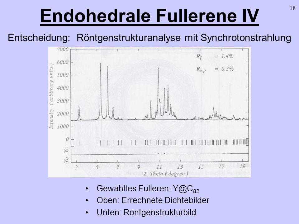 Endohedrale Fullerene IV Entscheidung: Röntgenstrukturanalyse mit Synchrotonstrahlung