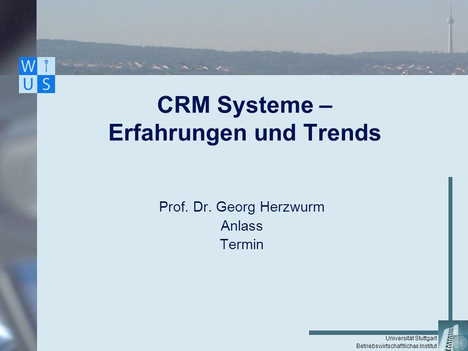 CRM Systeme – Erfahrungen und Trends