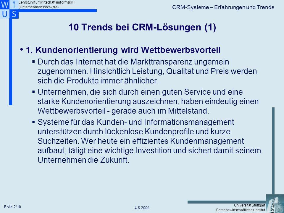 10 Trends bei CRM-Lösungen (1)