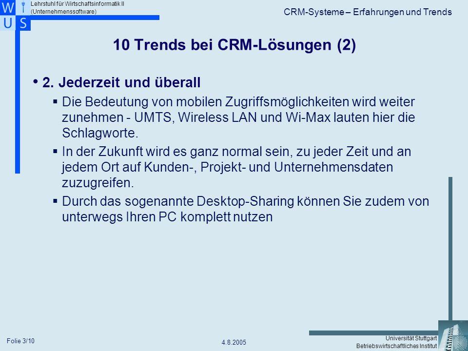 10 Trends bei CRM-Lösungen (2)