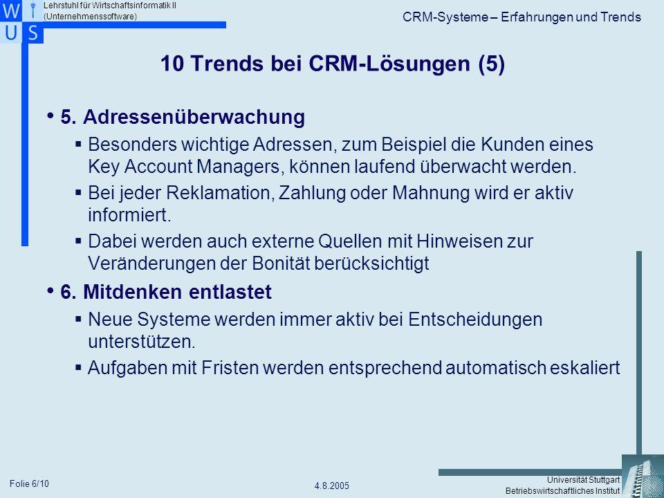 10 Trends bei CRM-Lösungen (5)