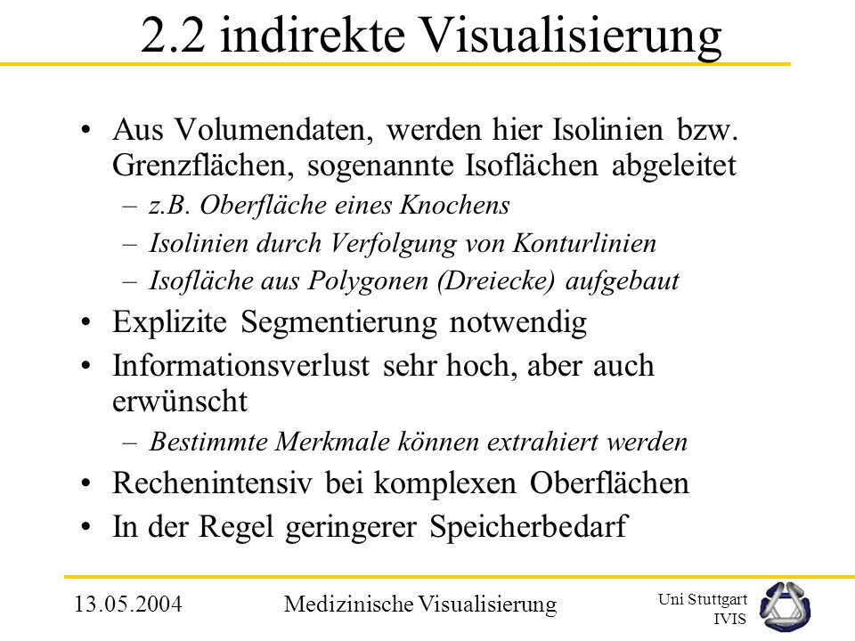 2.2 indirekte Visualisierung