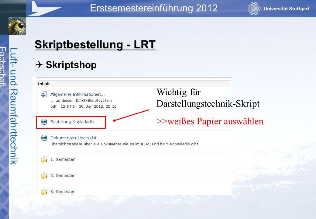 Skriptbestellung - LRT