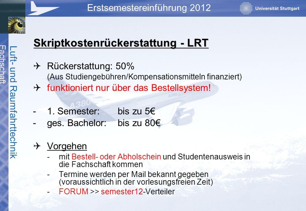 Skriptkostenrückerstattung - LRT