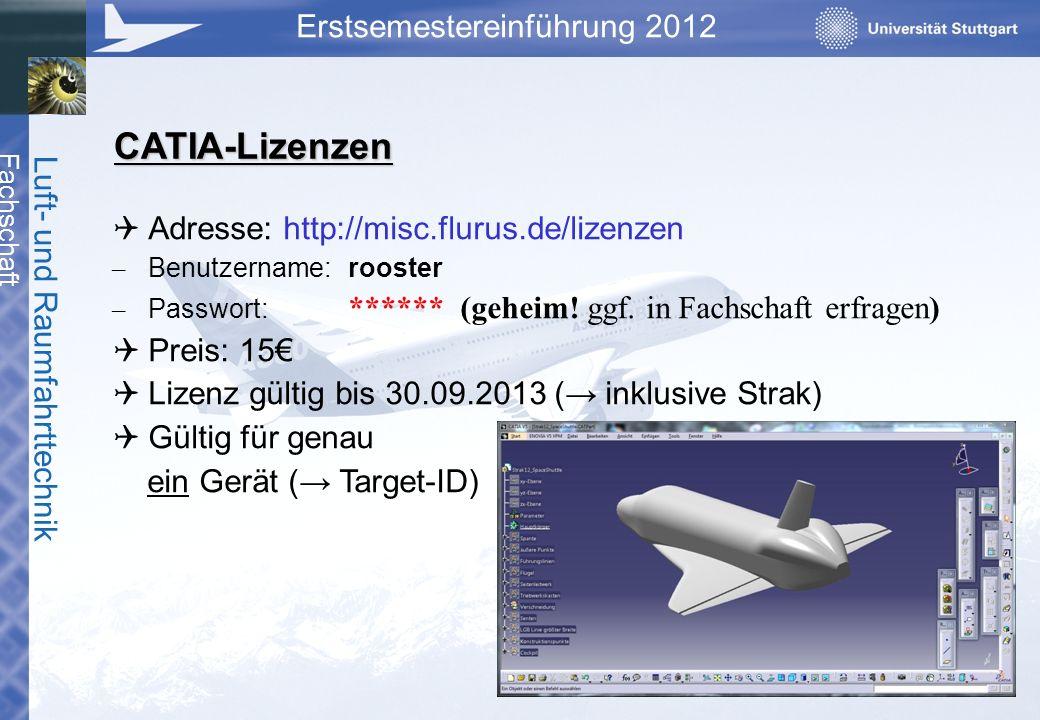 CATIA-Lizenzen Adresse: http://misc.flurus.de/lizenzen Preis: 15€