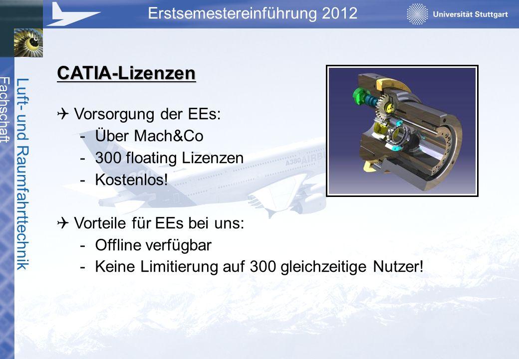 CATIA-Lizenzen Vorsorgung der EEs: Über Mach&Co 300 floating Lizenzen