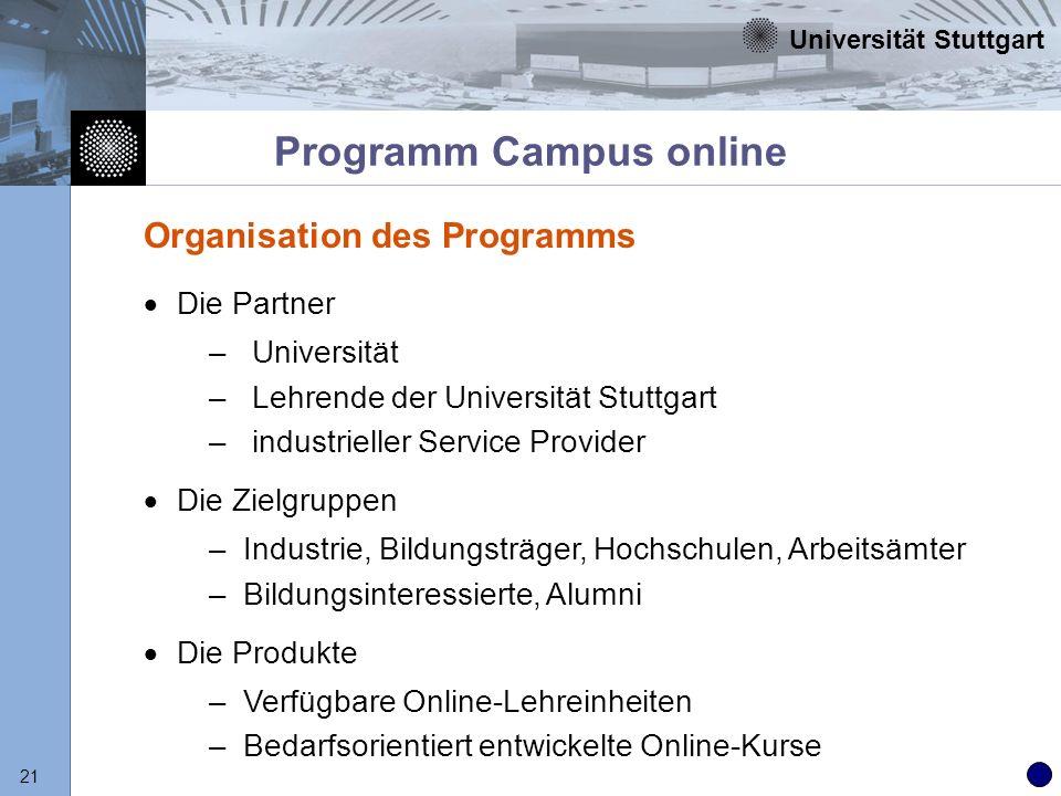 Programm Campus online