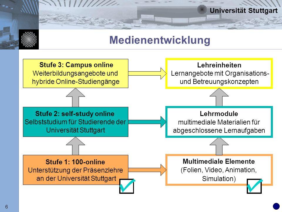Medienentwicklung Stufe 3: Campus online Weiterbildungsangebote und