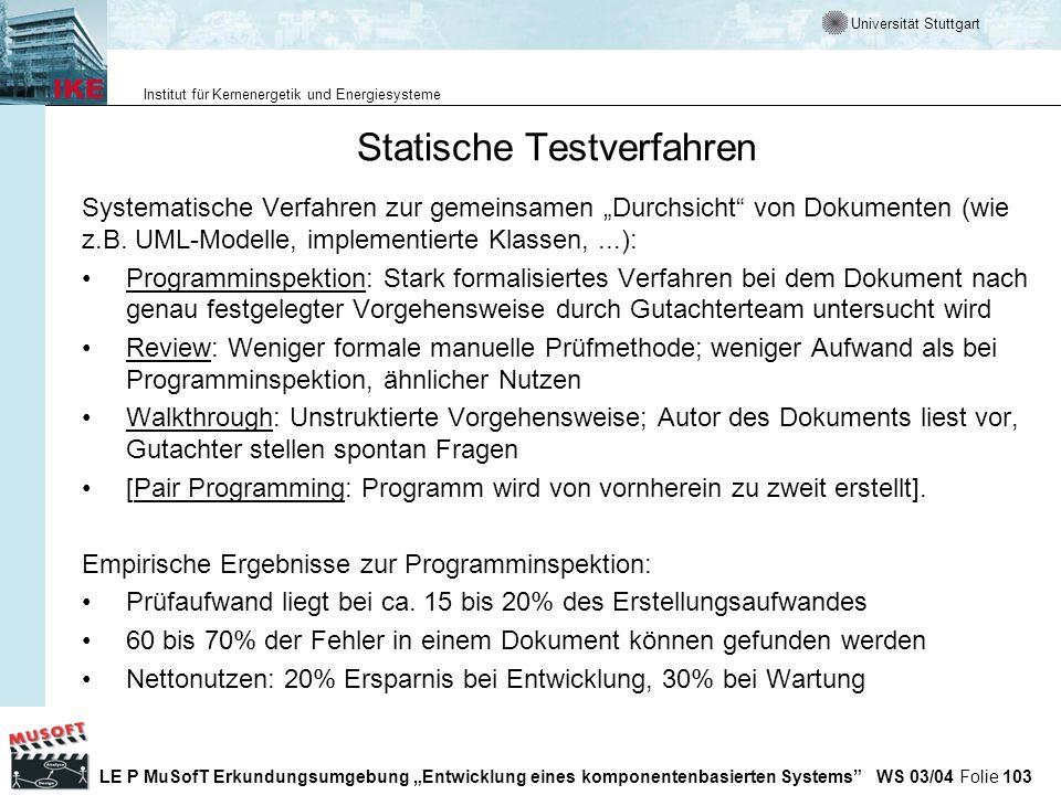 Statische Testverfahren