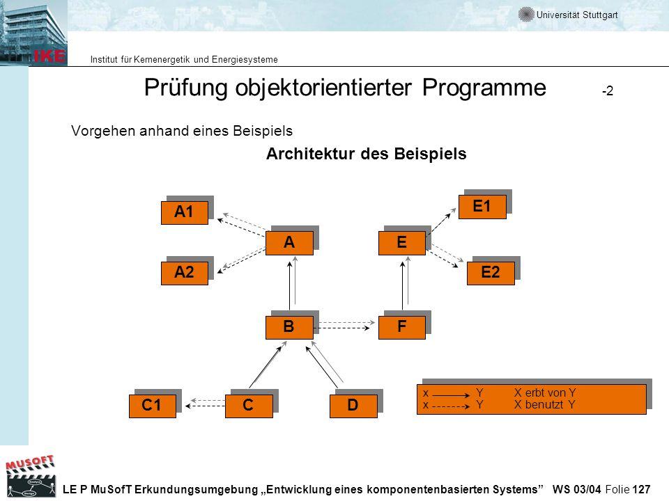 Prüfung objektorientierter Programme -2