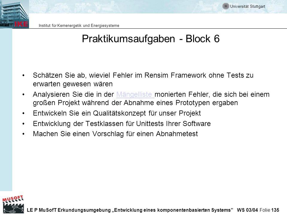 Praktikumsaufgaben - Block 6