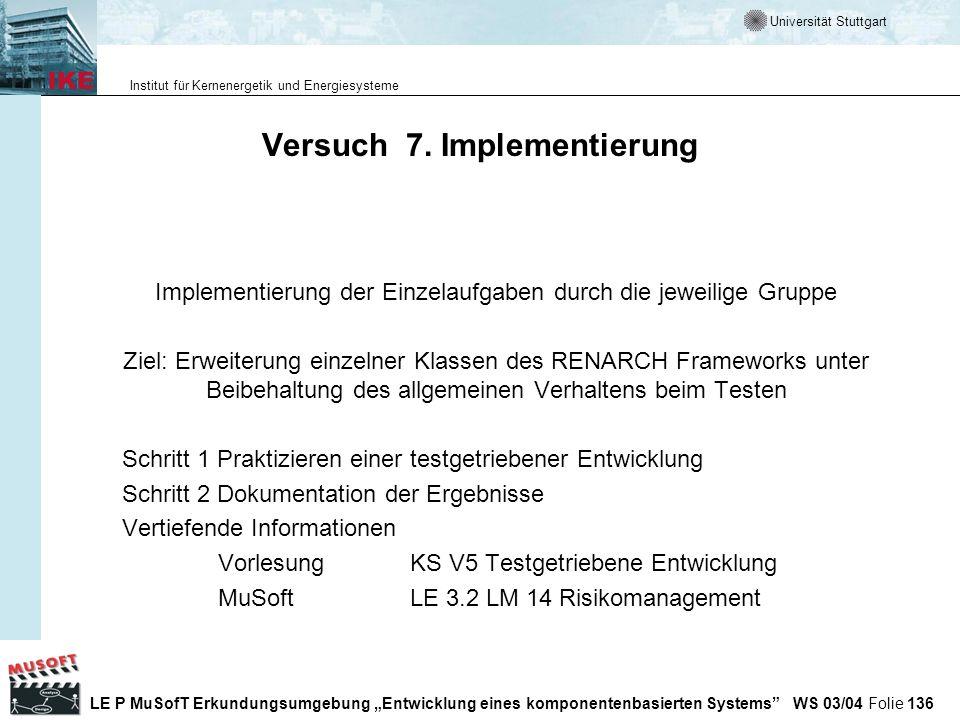 Versuch 7. Implementierung