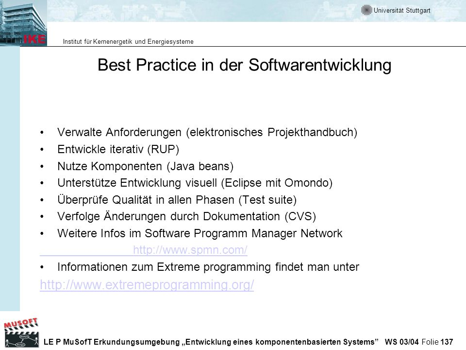 Best Practice in der Softwarentwicklung