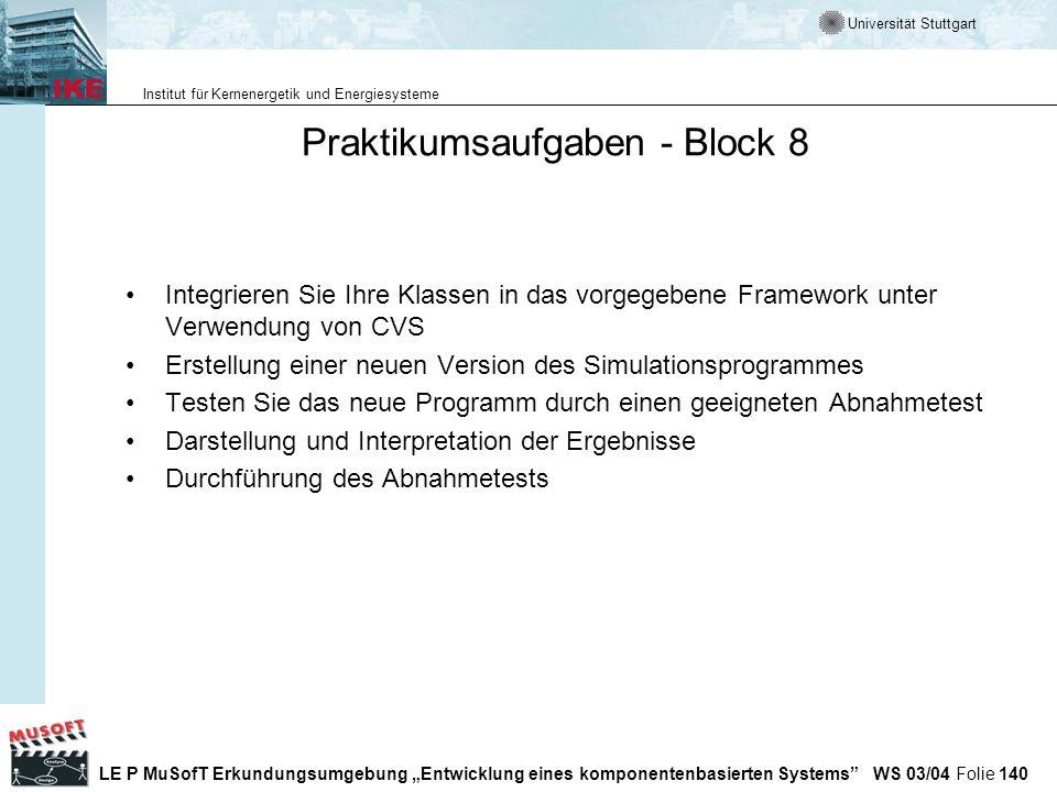 Praktikumsaufgaben - Block 8
