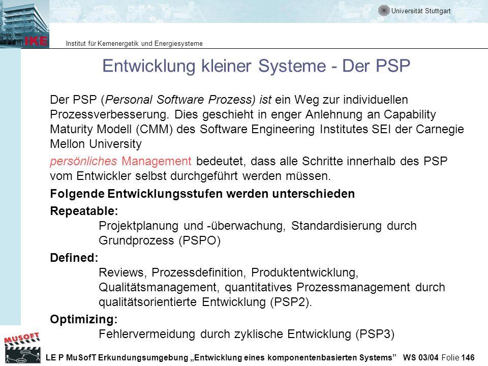 Entwicklung kleiner Systeme - Der PSP