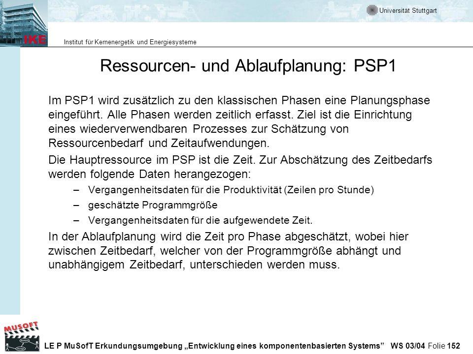 Ressourcen- und Ablaufplanung: PSP1