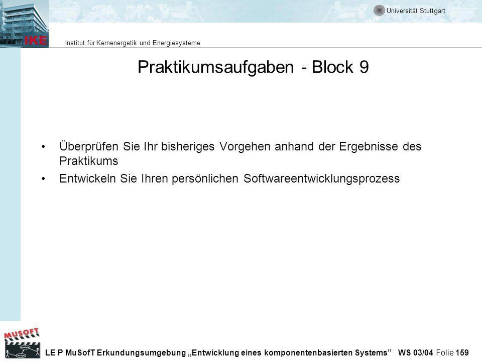 Praktikumsaufgaben - Block 9